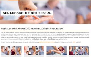 Texten Gebärdenschule-Sprachschule, Webdesign / Marketing