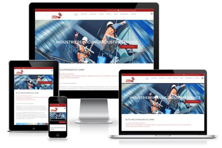 Agenturkunde Industriereinigung, Webdesign / Marketing)