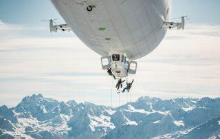 Luftschiffe und Big Mountain Skiing