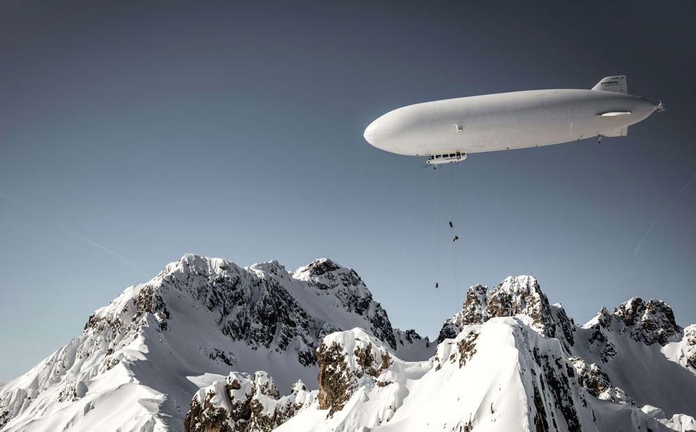 Zeppelin-Skiing