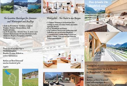 Flyer Ferienwohnung, Webdesign / Marketing