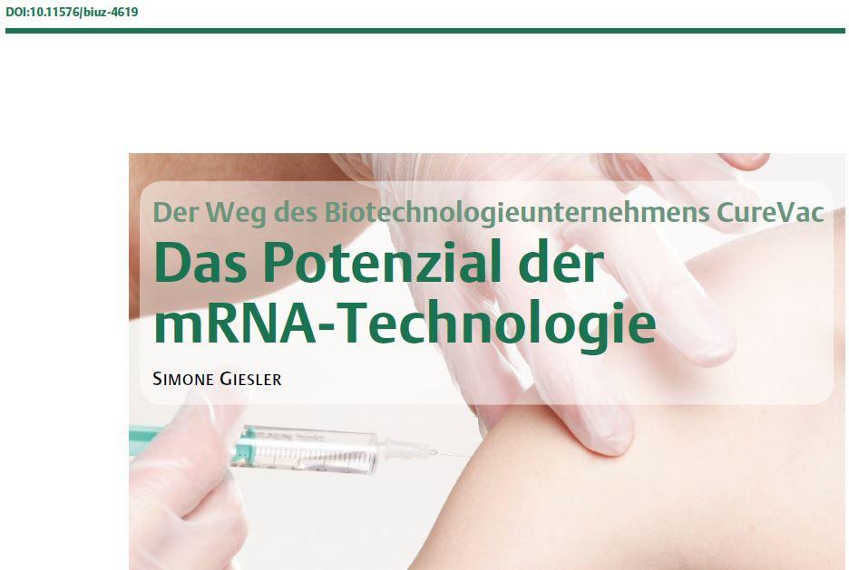 mRNA-Technologie, Artikel BiuZ